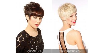 Moderní krátký sestřih a barva vlasů