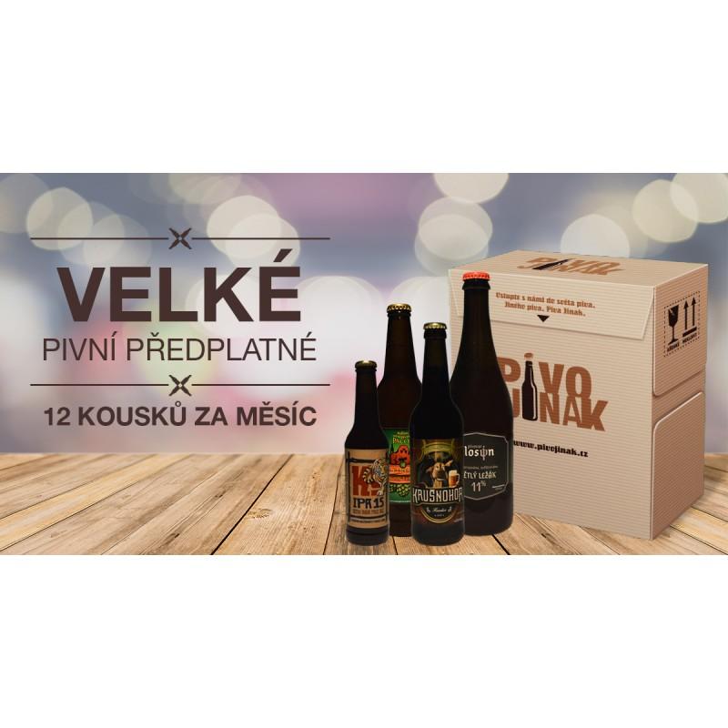 Předplatné velkého boxu piv z českých minipivovarů