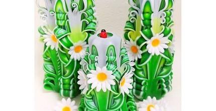 Krásné řezané a dekorační svíčky