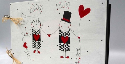Ručně malovaný svatební dar dle vlastního výběru