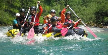 Rafting na rakouské řece Salze