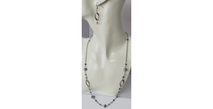 Elegantní souprava - náhrdelník + náušnice