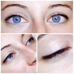 Permanentní make-up horních očních linek