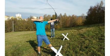 Zážitkový kurz lukostřelby, střílení do terče Olomouc