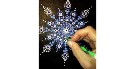 Živý soukromý kurz Dot painting pro 2 osoby