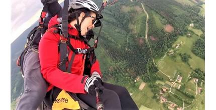 Tandem paragliding - 3G termický let