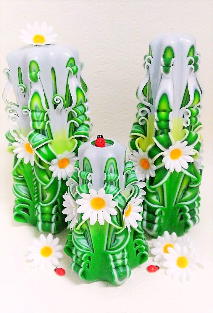 Dárkový poukaz na krásné řezané a dekorační svíčky v hodnotě 500 Kč
