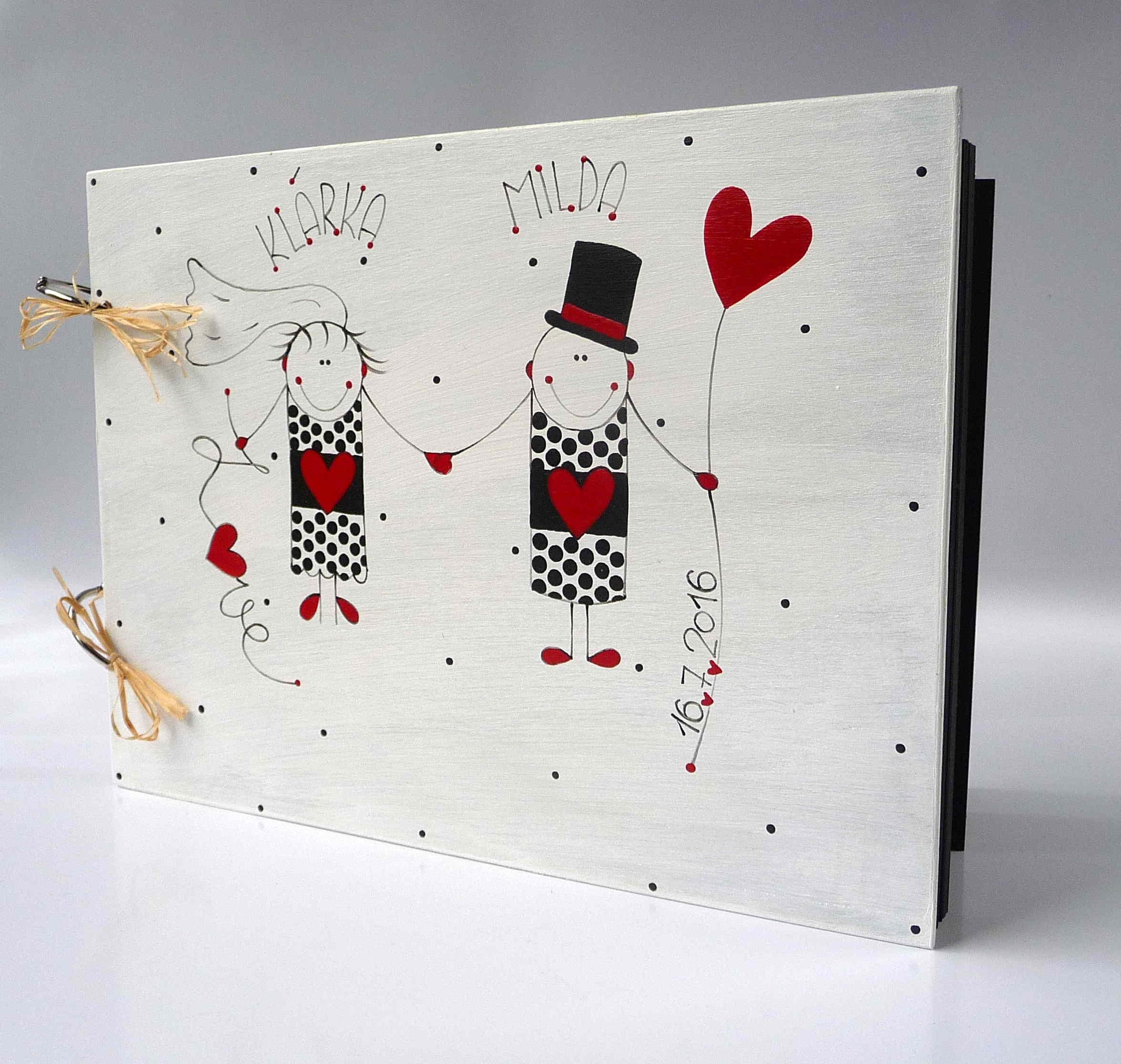 Dárkový poukaz na ručně malovaný svatební dar v hodnotě - 1500 kč