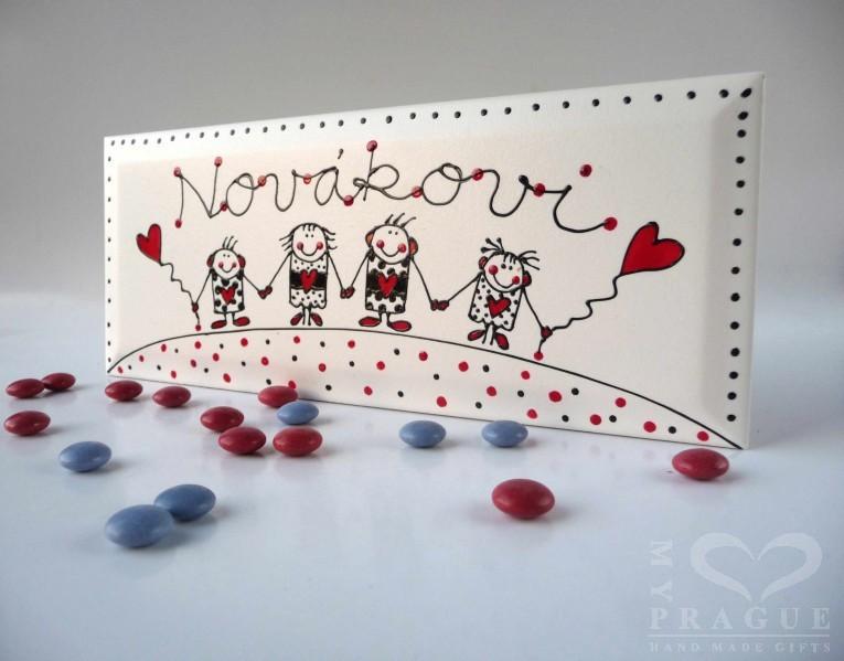 Dárkový poukaz na ručně malovaný dárek se jménem v hodnotě 2000 Kč